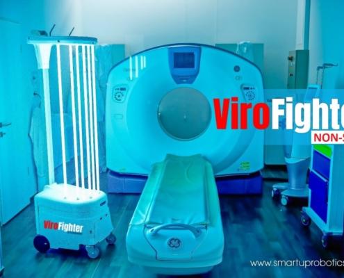 ViroFighter önjáró fertőtlenítő robot kórházi fertőtlenítés